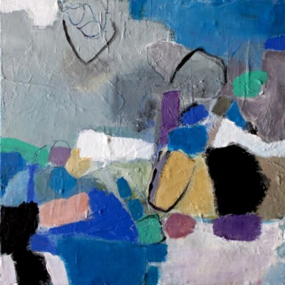 A painting from the Saudade series by Michele de la Menardiere
