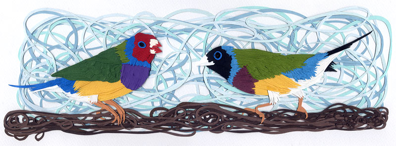 """Gouldian Finch"" by Sherill Anne Gross; image courtesy the artist."