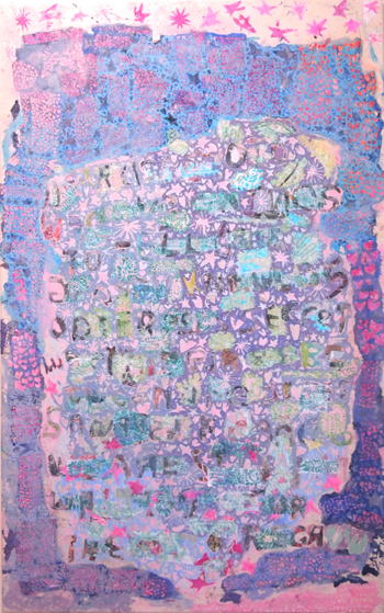 things to tell uou by Chase Fallon 2015 marker and image transfer on canvas