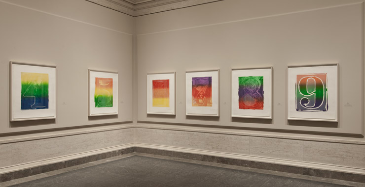 Installation view of Serial Impulse at Gemini G.E.L at National Gallery of Art (2015) Image courtesy NGA