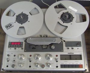 A 1/4 inch tape machine, similar to the one used by the author.