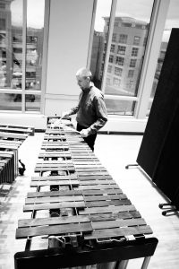 Rich O'Meara performing on Marimba; image courtesy the author